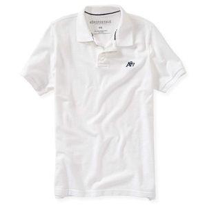 NWT Aeropostale A87 solid logo polo shirt Sz Large